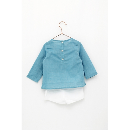 Cotton short and linen shorts
