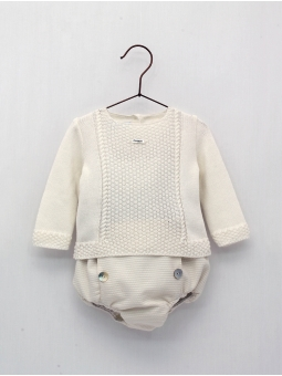 Baby boy jumper and baptism shorties
