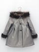 Abrigo metalizado con capucha