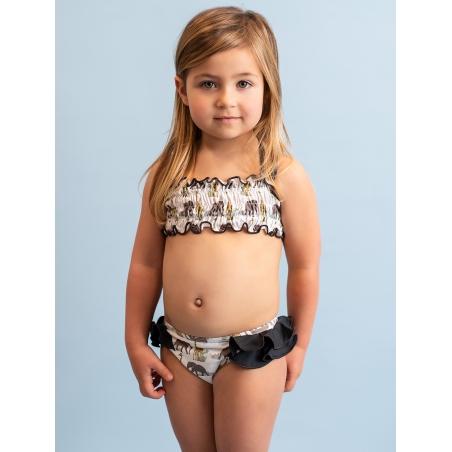 Safari pattern girl swimsuit