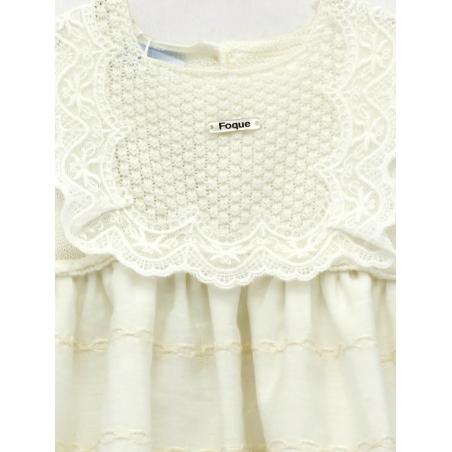 Baptism skirt-type baby girl dress