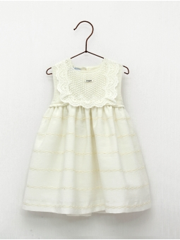 Baptism skirt-type baby girl dress