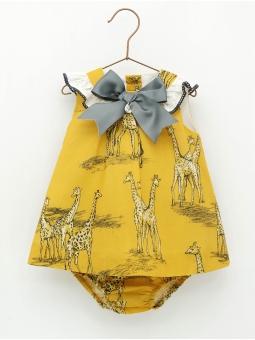 Giraffe patterned dress with shorties