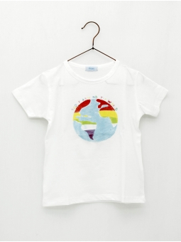 World print T-shirt