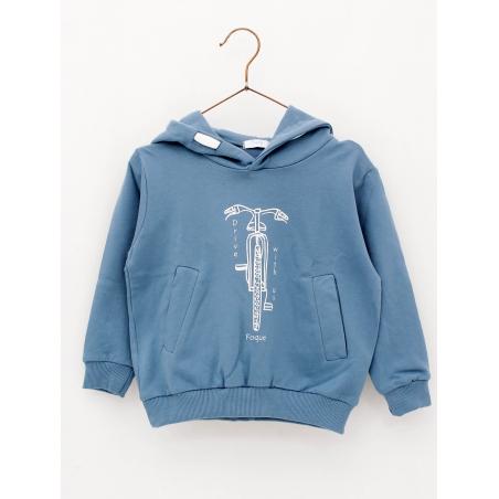 Bike print boy hoodie