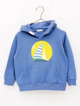 Sun and sailboats boy hoodie