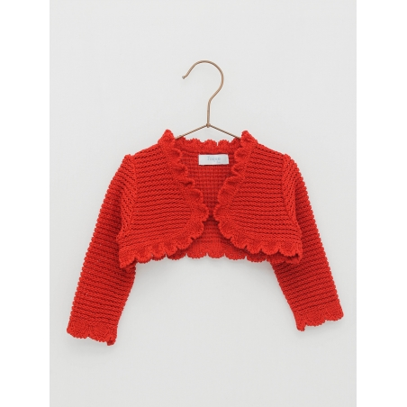 Round ends girl cardigan
