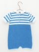Striped knitted baby romper
