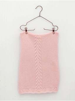 Baby knitted blanket with fretwork