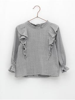 Spotted girl blouse