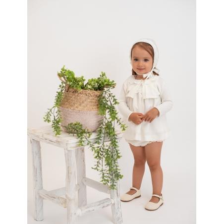 Baptism baby girl cardigan