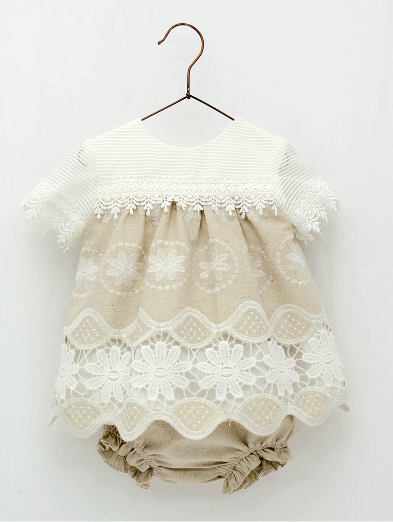Embroidered dress with shorties