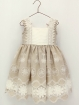 Girl dress with embroidered fretwork