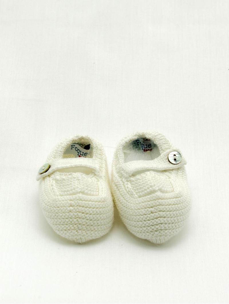 Garter stitch baby boy booties