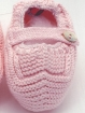 Garter stitch baby boy booties