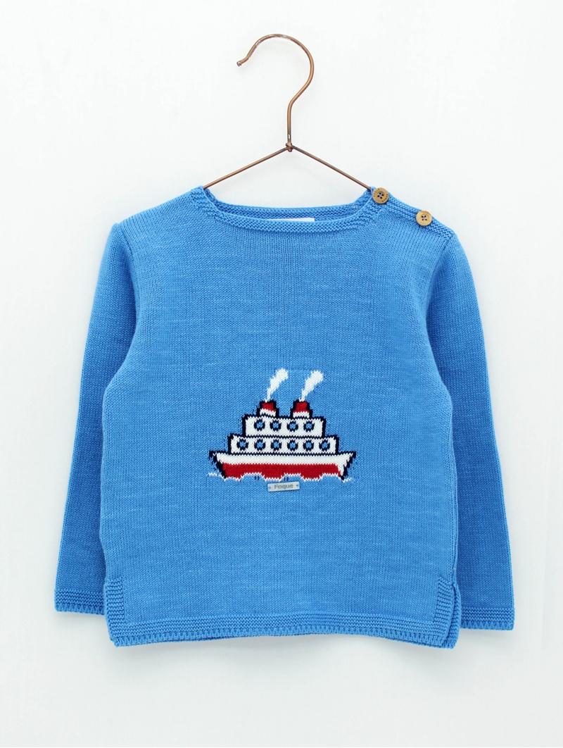 Steamboat baby boy jumper