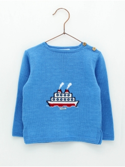 Steamboat baby boy jumper