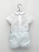 Striped baby boy set