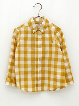 Gingham Safari boy shirt