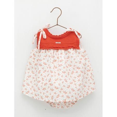 Patterned baby girl romper dress