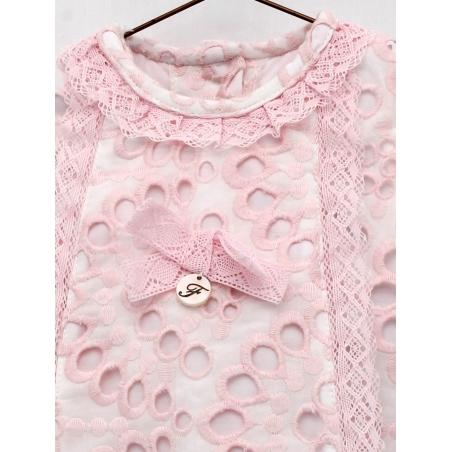 Coloured batiste baby girl dress