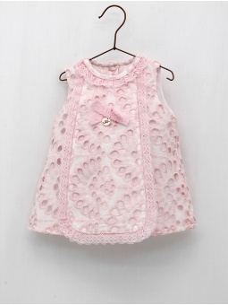 Coloured batiste baby girl dress