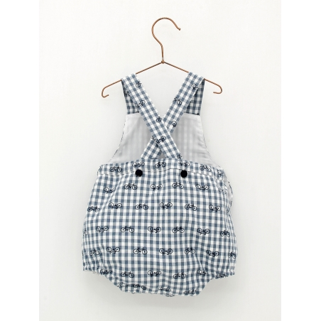 Gingham bike print baby shorties