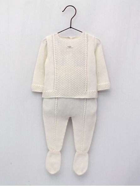 Baby boy-girl set of jumper and gaiter