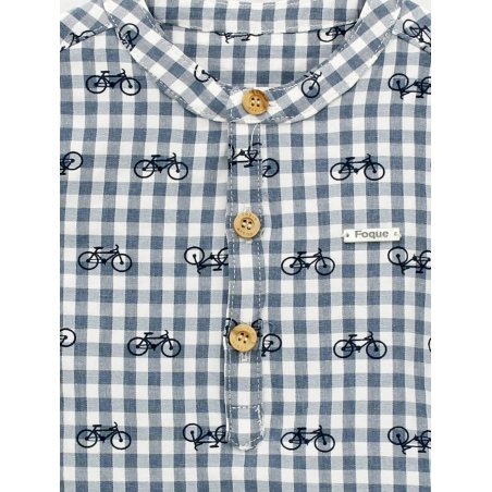 Bike print baby shirt