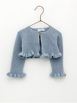 Baby girl cardigan with ruffle start