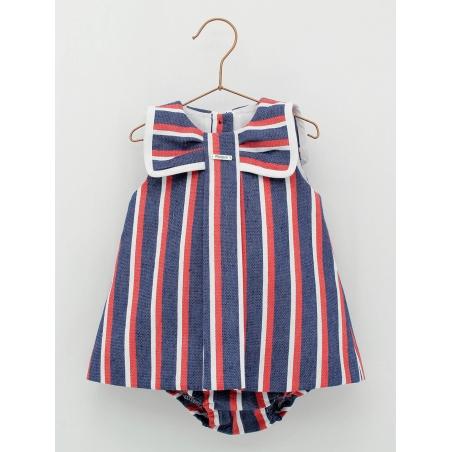 Sailor baby girl romper dress