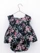 Patterned romper-like girl dress