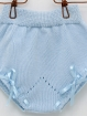 knitted baby girl-boy panties with bow