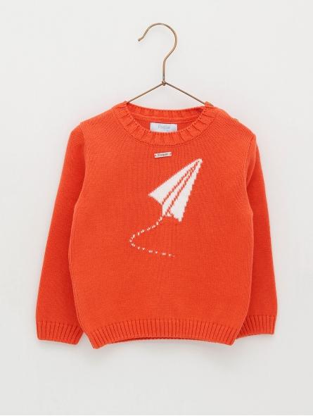 Plane print baby jumper