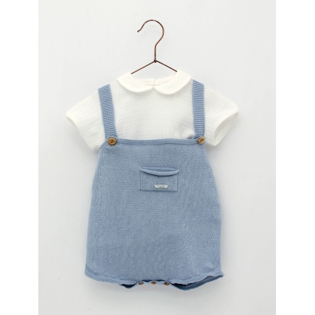 Baby boy-girl set of knitted shorties and blouse
