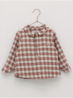 Cheesecloth checked shirt