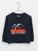 Boy jumper with pick up print
