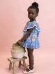 Patterned flared girl dress