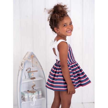 Striped Nautic girl dress