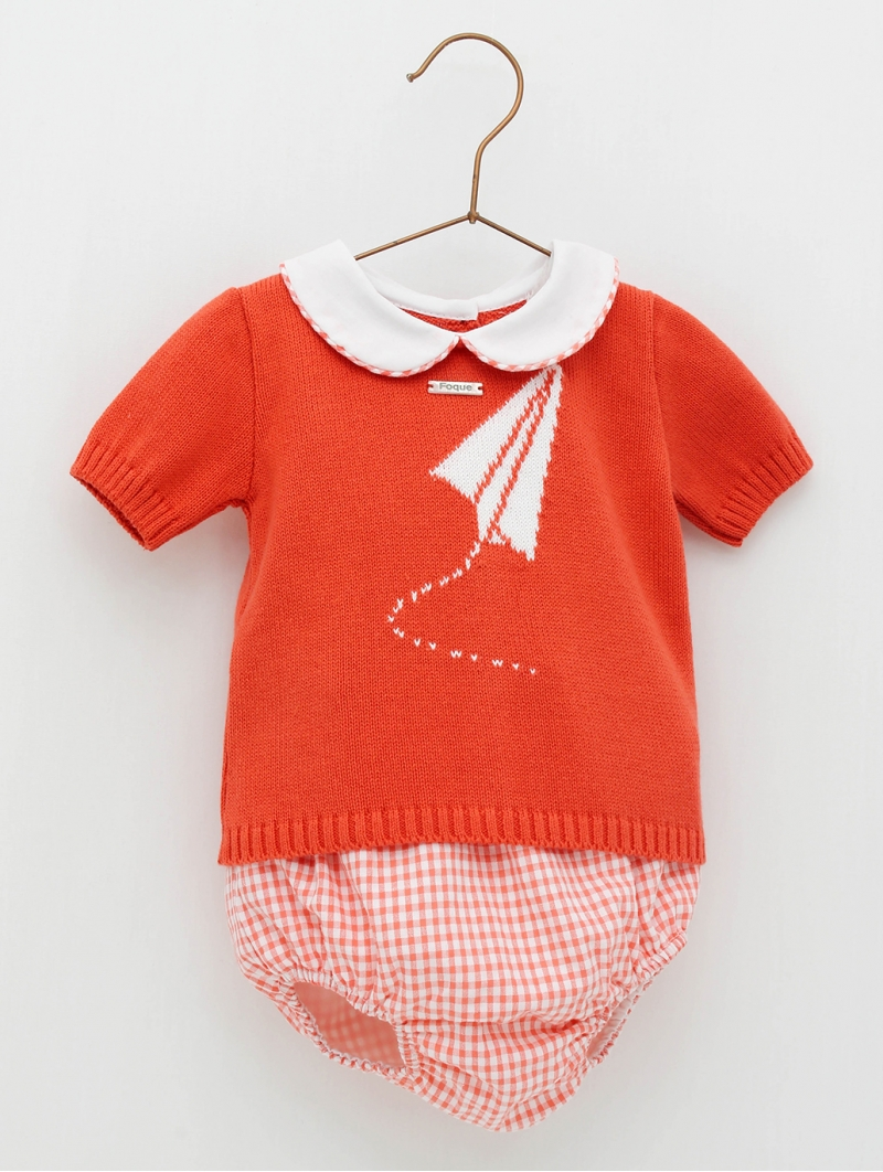 Plane print baby jumper and shorties