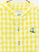 Gingham boy Henley shirt