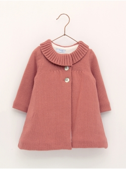 Lined knitted coat