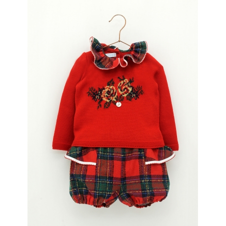 Girl set of sweater and bloomers