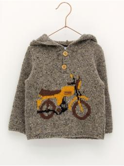 Camisola com capucha desenho moto