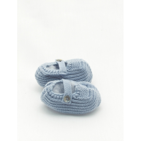 Organic cotton Mary Janes-type bootie
