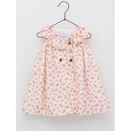 Patterned plumetti baby girl dress