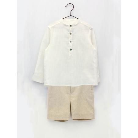 T-shirt like linen shirt and shorts