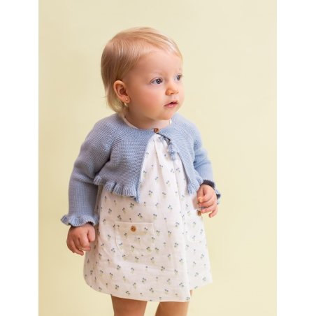 Flowered baby girl dress
