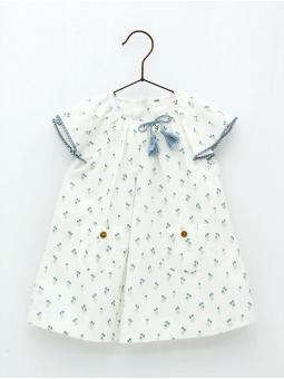 Flowered baby girl dress
