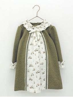 Vestido bebé niña con pieza estampado zorritos